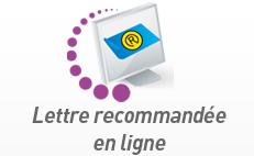 lettre recommandée en ligne Services postaux en ligne (Timbre, Lettre, Courrier)   LA POSTE lettre recommandée en ligne