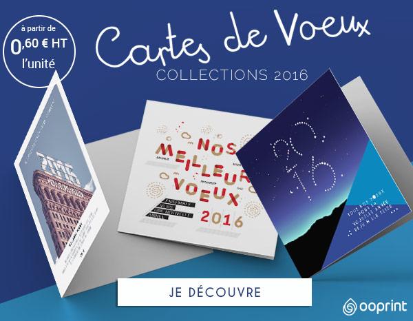 Bien-aimé Cartes de Voeux 2016 - Carte de voeux personnalisée et  MZ04