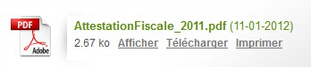 Attestation fiscale PDF