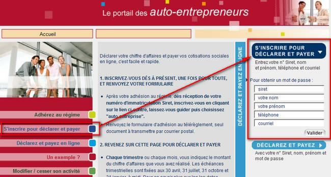 Net entreprise auto entrepreneur myae s 39 inscrire pour - Inscription chambre des metiers auto entrepreneur ...