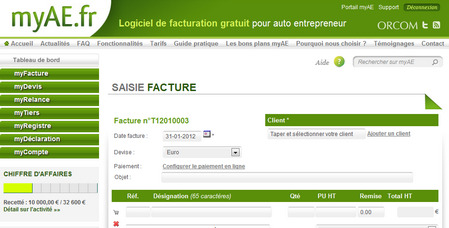 logiciel gratuit pour auto entrepreneur de 27 000 membres f d ration. Black Bedroom Furniture Sets. Home Design Ideas